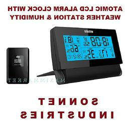 Wireless Weather Station Atomic Radio Controlled LCD Alarm C