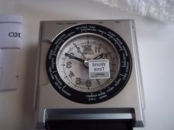 Seiko World Time travel alarm clock. New in box w/ blemish.