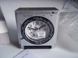 Seiko World Time travel alarm clock. New in box.