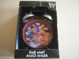 WWF WWE John Cena Twin Bell Alarm Clock Hologram Pictures Br