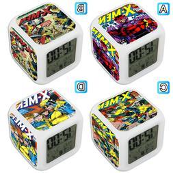 X Men Comics Cover LED Digital Alarm Clock Color Changing Ho