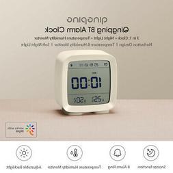 Qingping Bluetooth Thermometer Hygrometer Alarm Clock Night