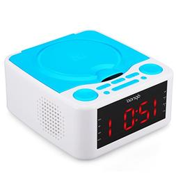DPNAO YW-010 CD Player with Alarm Clock Radio, USB AUX Remot